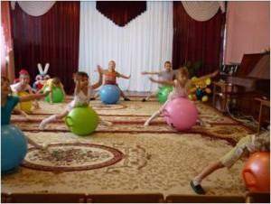 Фитбол гимнастика в детском саду